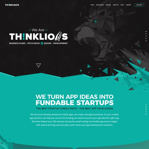 Unique website design for Th!nkLions