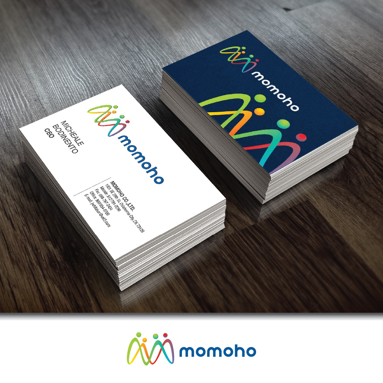 Create an engaging, exciting logo for MoMoHo