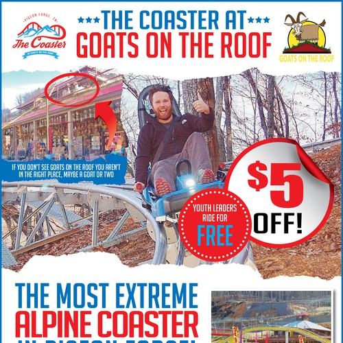 Flyer for an ALPINE COASTER