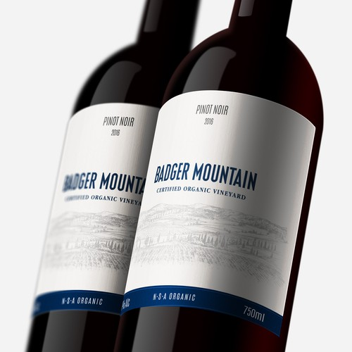 Wine Label for a special and organic brand
