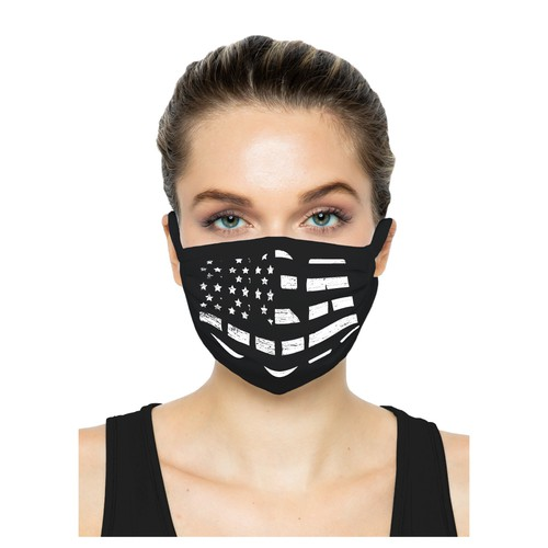 US Flag Face Mask Design