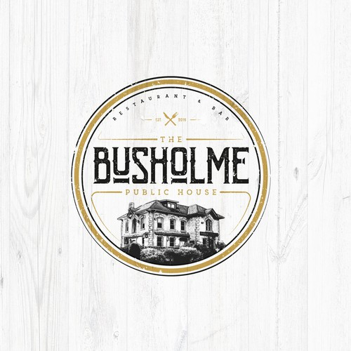 Hip ilustrated logo for public house restaurant!