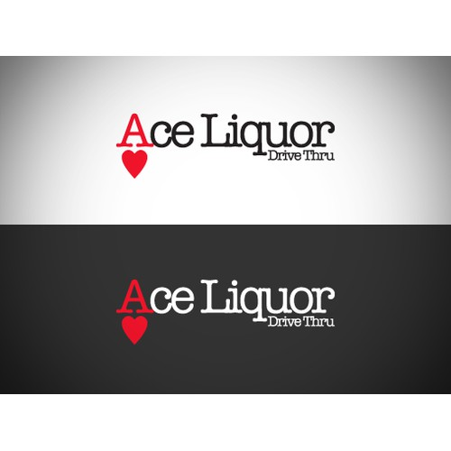 Create a cool logo for Ace Liquor (liquor store with a Drive Thru window)