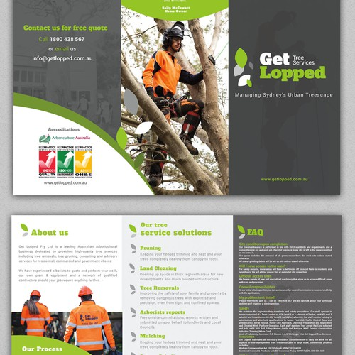 Profesional Brochure tri fold A3 to A4