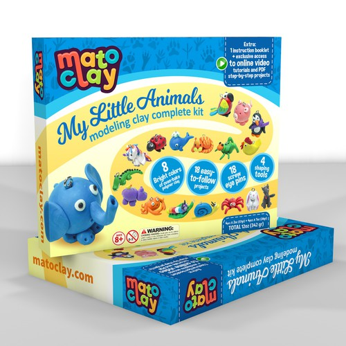 Playful package design concept for MatoClay