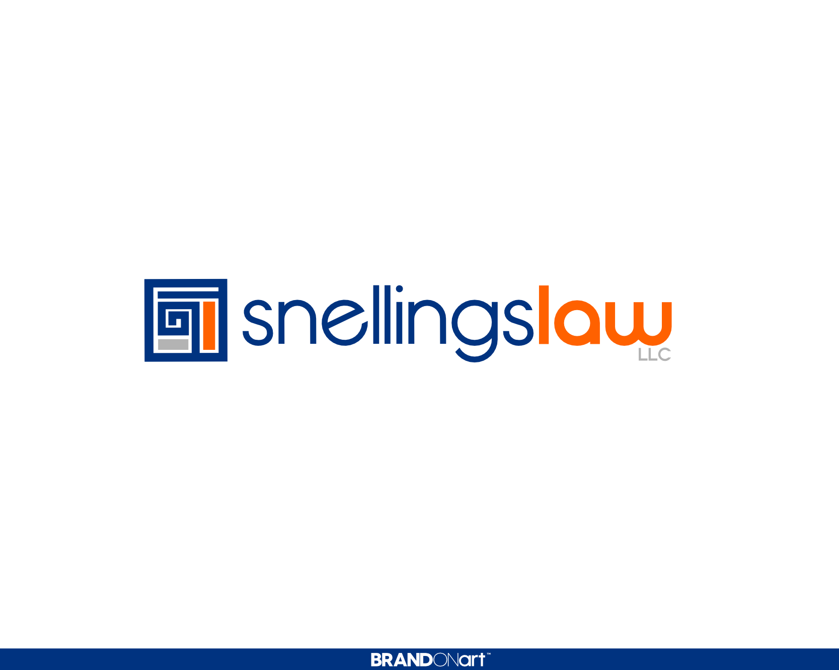 Modern, Trendy logo design for Snellings Law LLC
