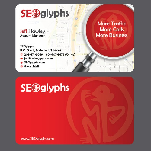 SEOglyphs Needs an Exciting/Creative Business Card