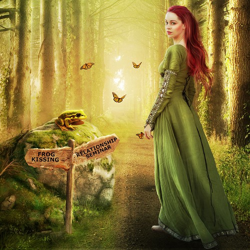 Create a Fairytale/forest illustration for relationship skills book