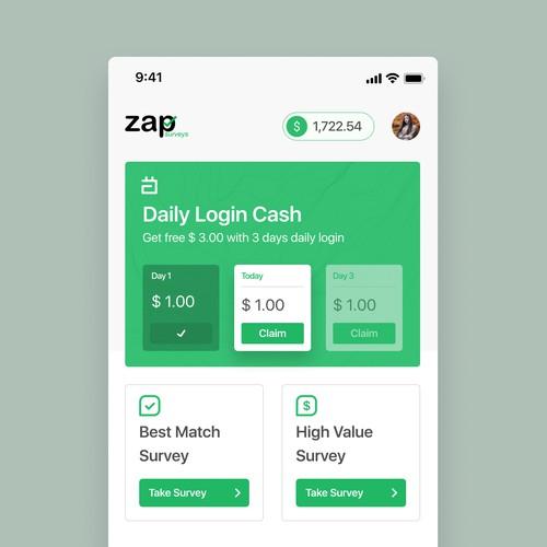 Zap survey—cashback apps