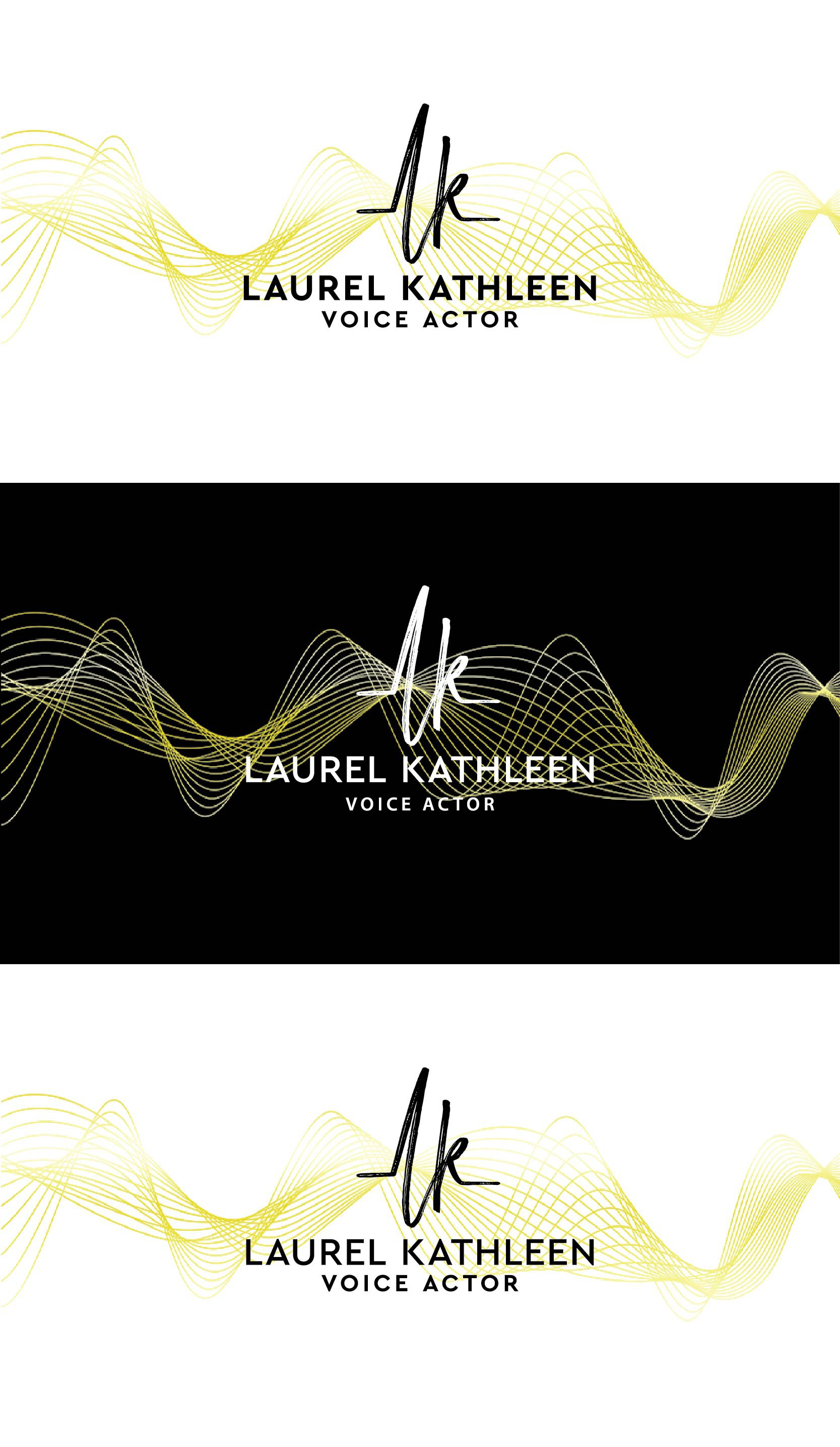 Cool logo/website for young freelance voice actor living in LA