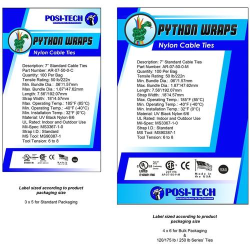 Electrical Fastener design label