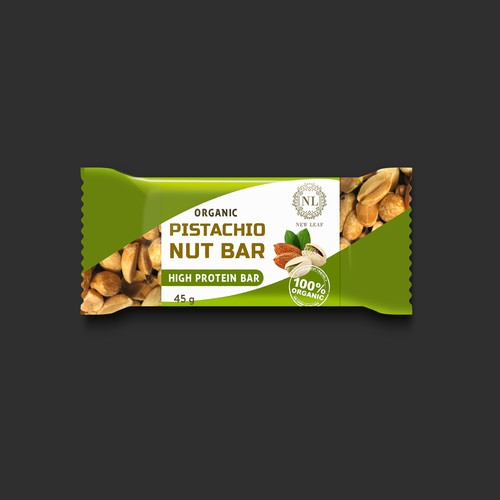 Organic pistachio Bar Packaging design