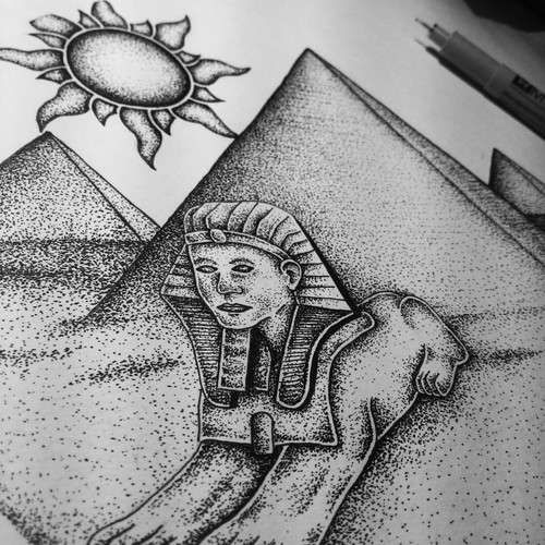 (WIP) Illustration The Great Pyramid Of Giza