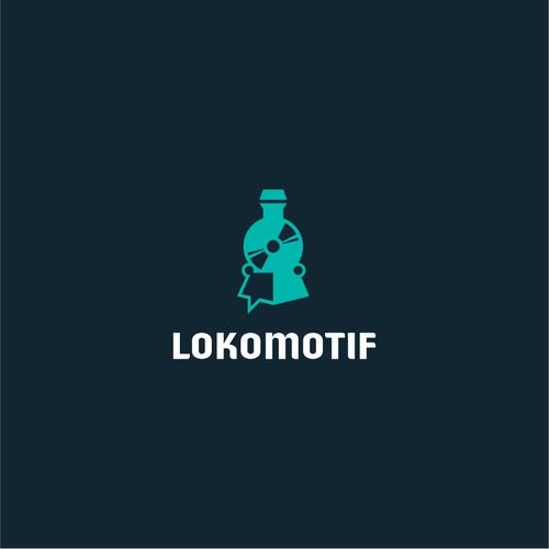 Logo Design draft for Lokomotif
