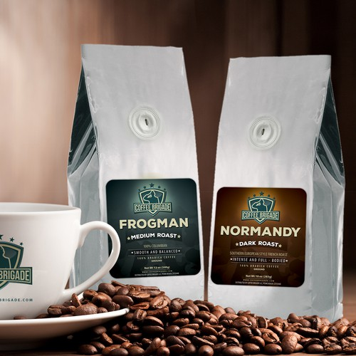 Labels Design for Coffee Brigade