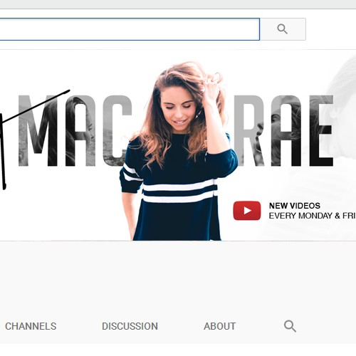YouTube Cover Design For Brit MacRae.
