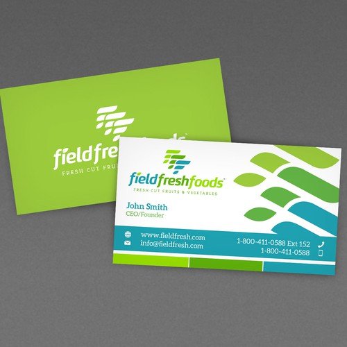 Business Card design for Field Fresh Foods.