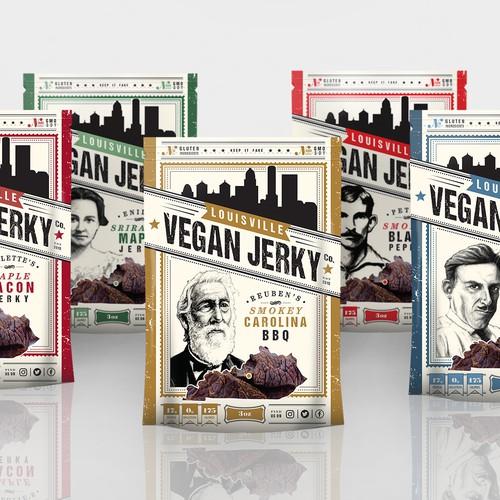 Refresh Louisville Vegan Jerky Packaging