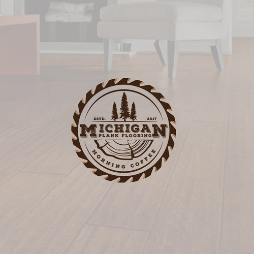 "Logo for ""Michigan Plank Flooring"""