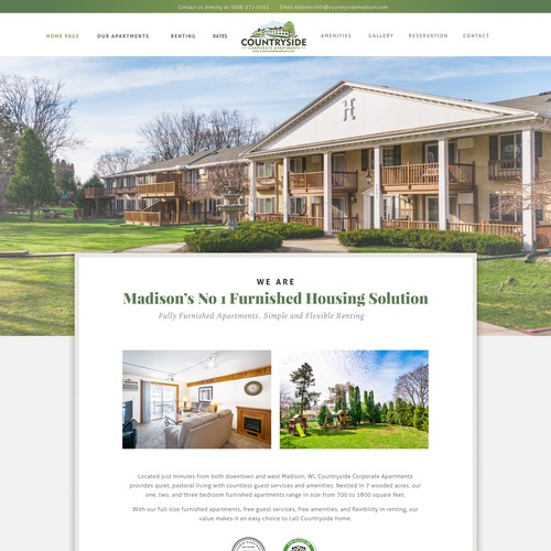 Home page for Coporate apartment