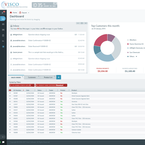 Logistics Information System Sowtware UI design