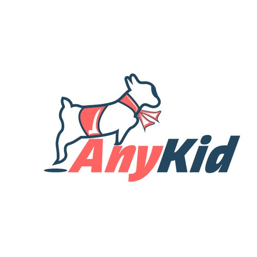 Create modern, fun design for Anykid, a slyly subversive children's clothing line