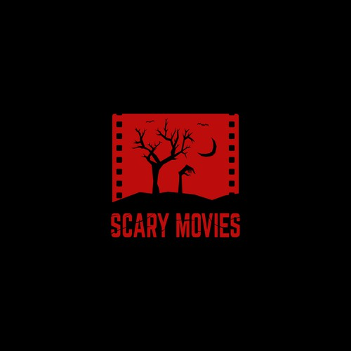 Horror themed movie related logo concept