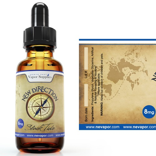 Create an eye catching label design for an eLiquid company's nationalcampaign.