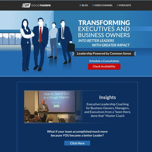 Redesign for a Blog for an Executive coaching for senior business leaders