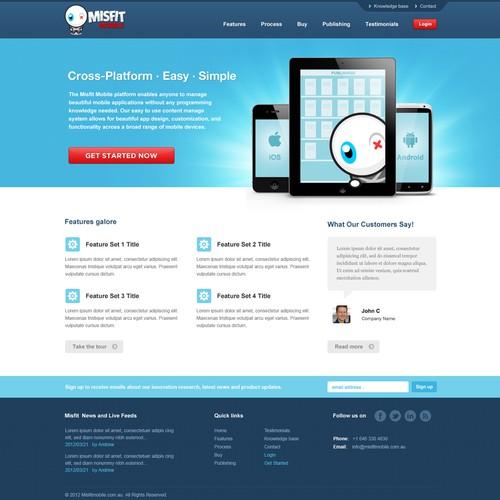 Help www.misfitmobile.com.au with a new website design