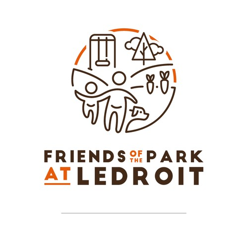 Friends of the Park at Ledroit Logo Design