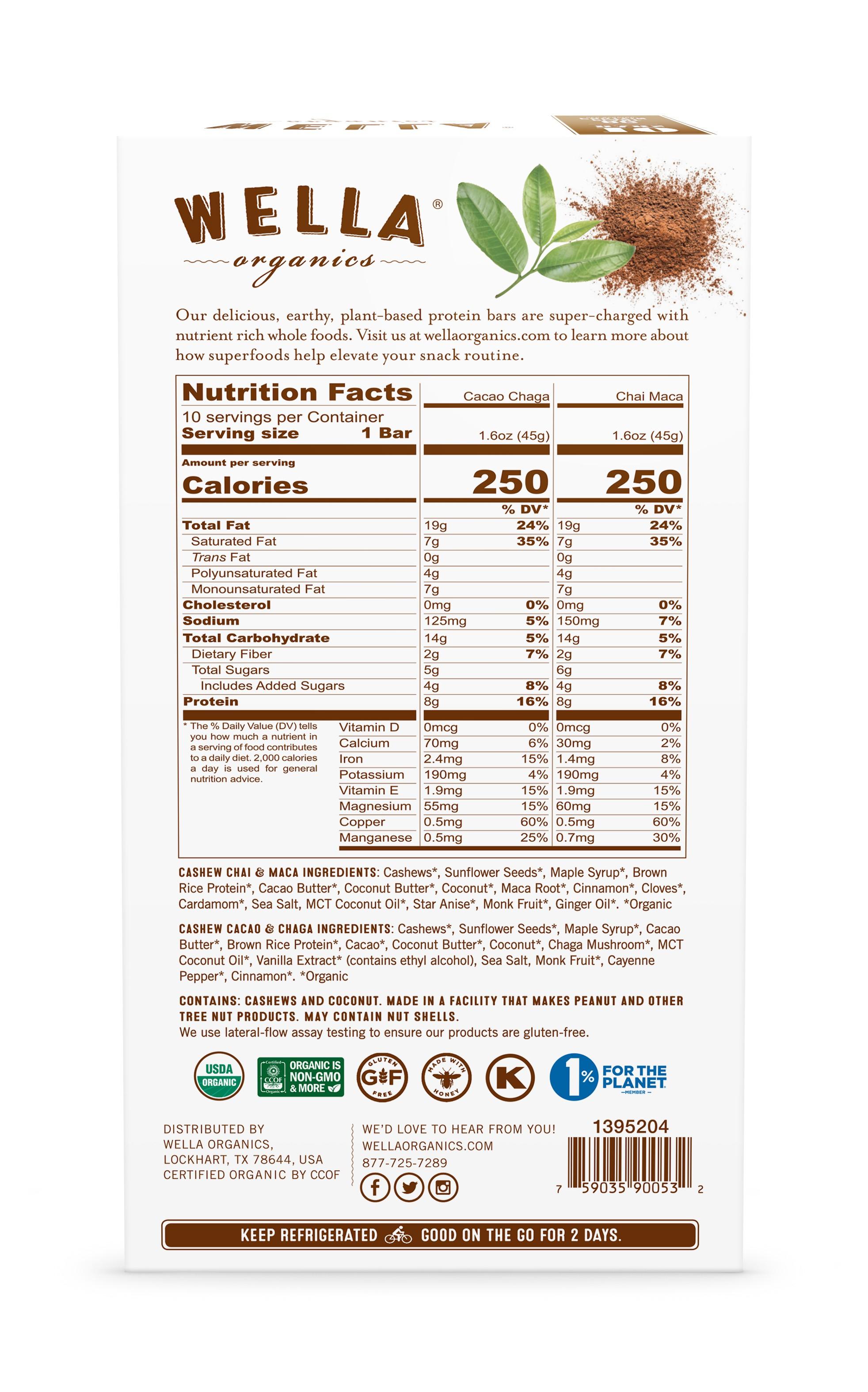 Cashew Superfood Bar Carton Render - Vegan Pack
