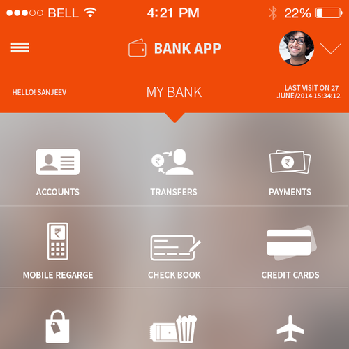 Design the coolest Un-banking app ever