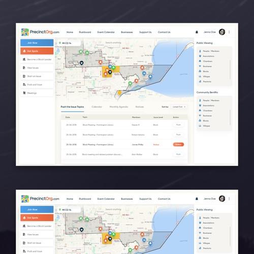 Webapp design concept 2