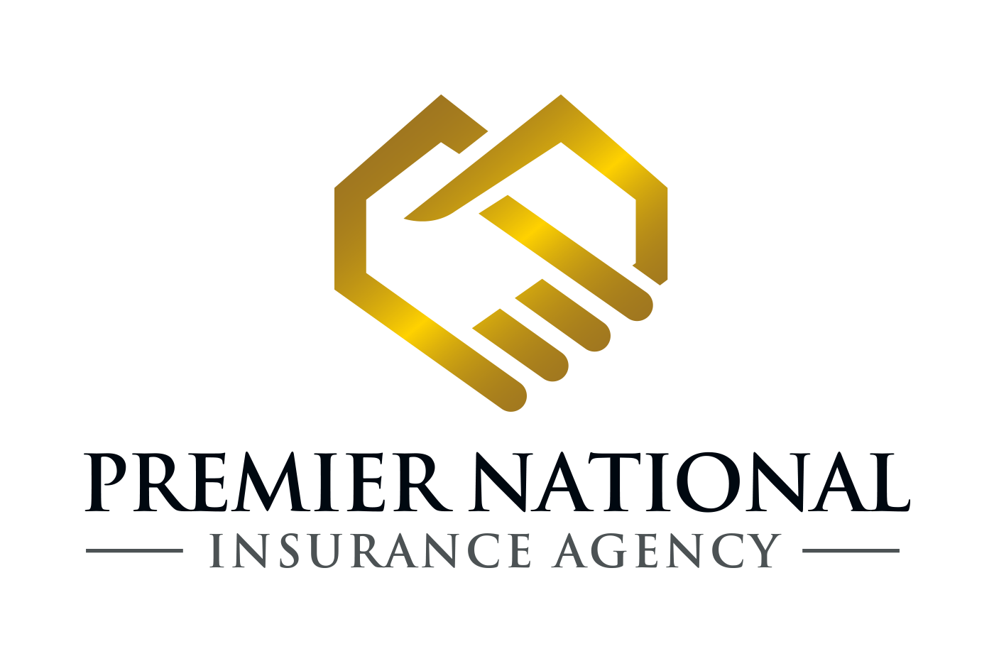 Handshake and/or Mountain Logo for Premier National Insurance Agency