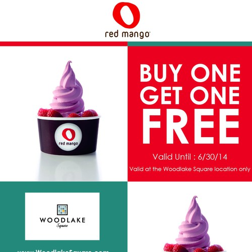 Create an ad for Red Mango Yogurt Company