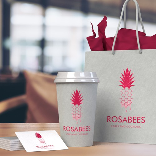 RosaBees - Cakes and cocktails logo