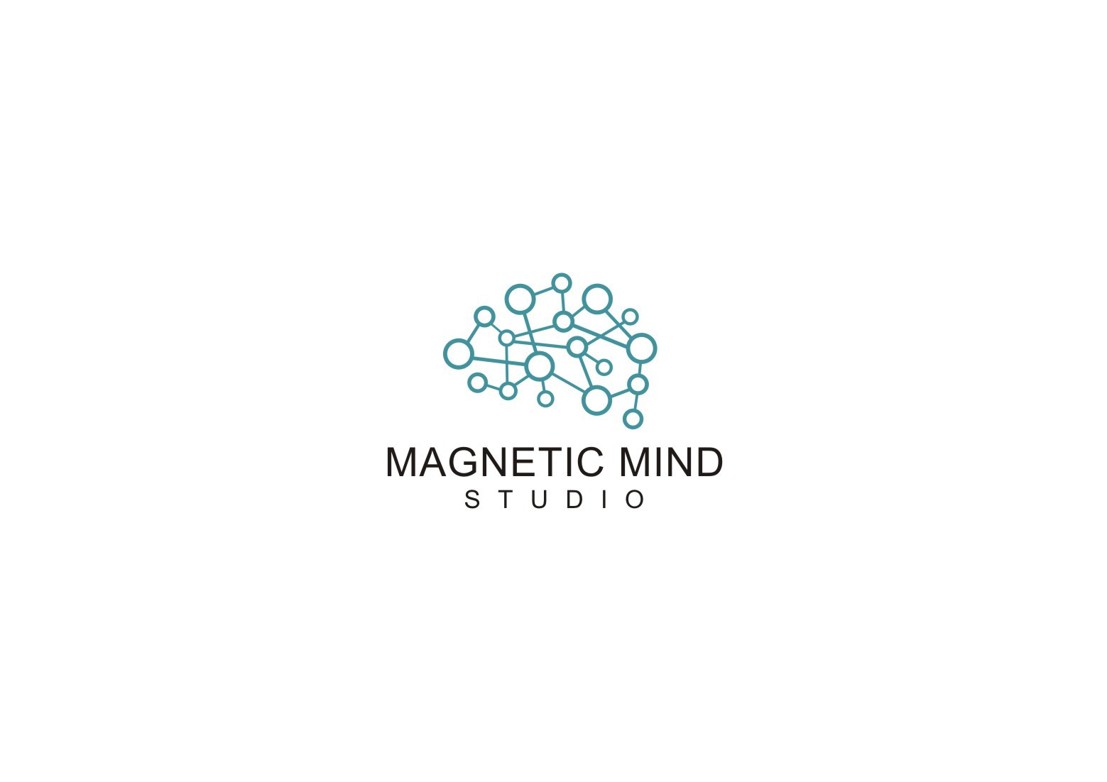 Can you create a logo that blends neurology and sophisticated design?