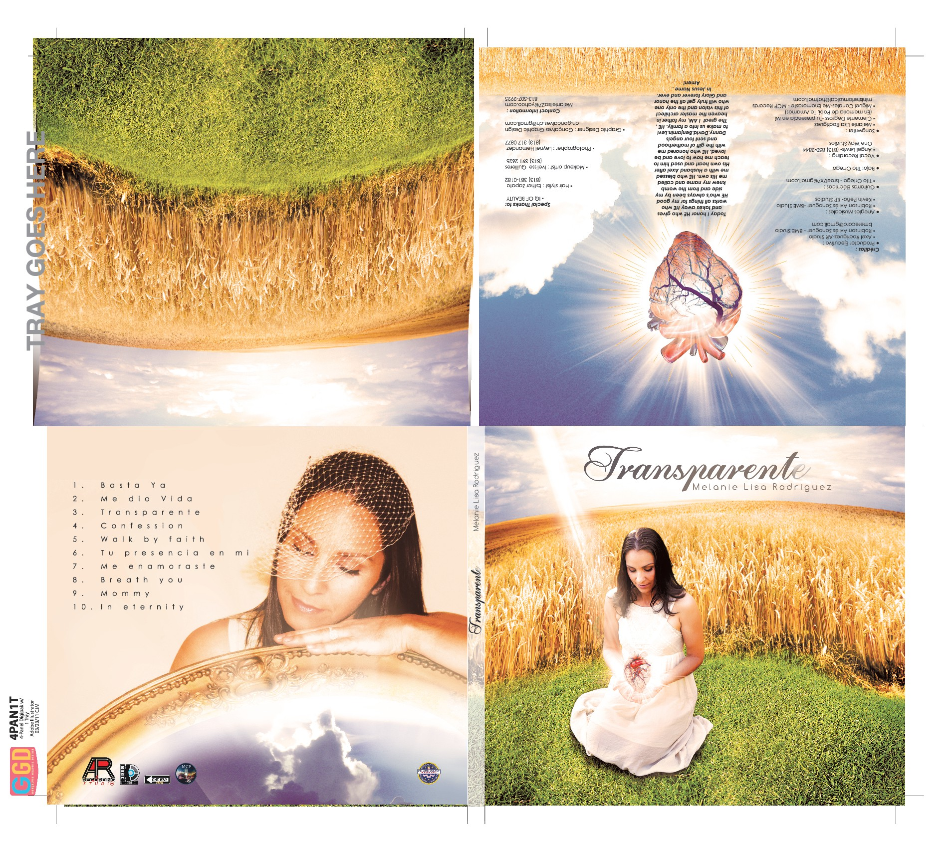CREATE A SIMPLE BUT POWERFUL STATEMENT DIGIPACK CD COVER