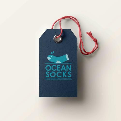 Logo for a sock company