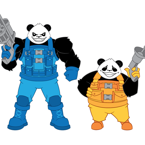 armed panda illustration