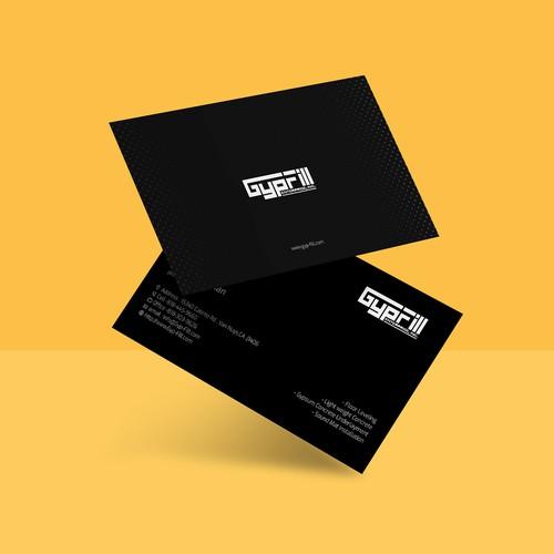 Business card design Gypfill company