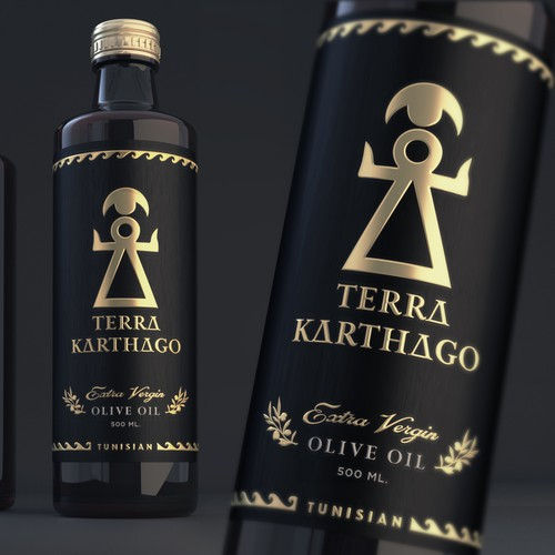 We need a high-quality etiquette design for our olive oil bottle