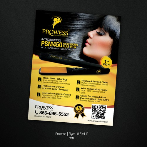 Create the next postcard or flyer for Prowess - The Hair Experts