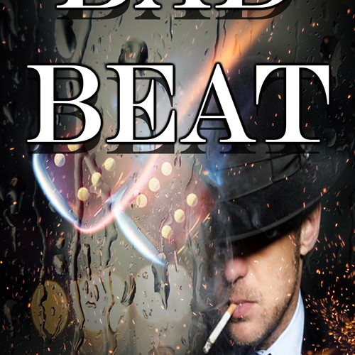 "Create an Amazon Kindle book cover design for a thriller called, ""Bad Beat"""