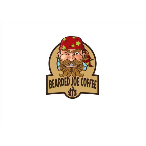"Create the most ""bad ass"" Logo for The Bearded Joe Coffee Company"