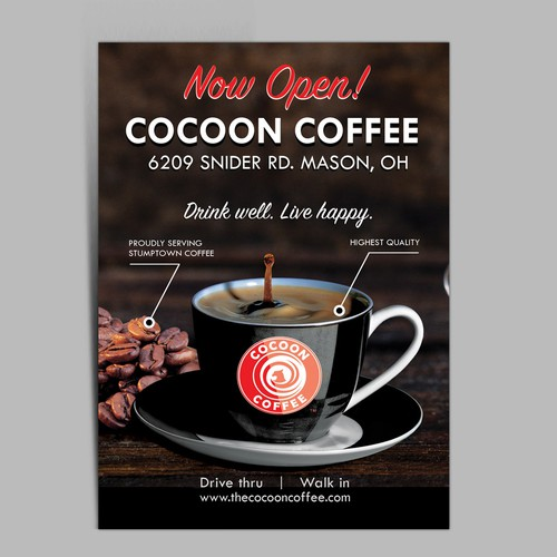 Cocoon Coffee - Postcard design