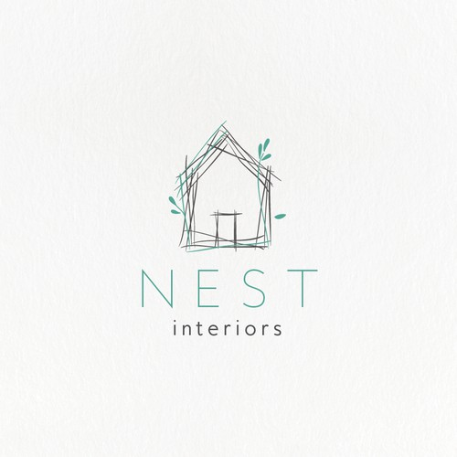 Hand-drawn minimal logo for an interior design company