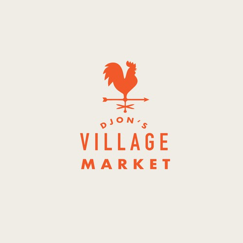 Simple logo for a country market