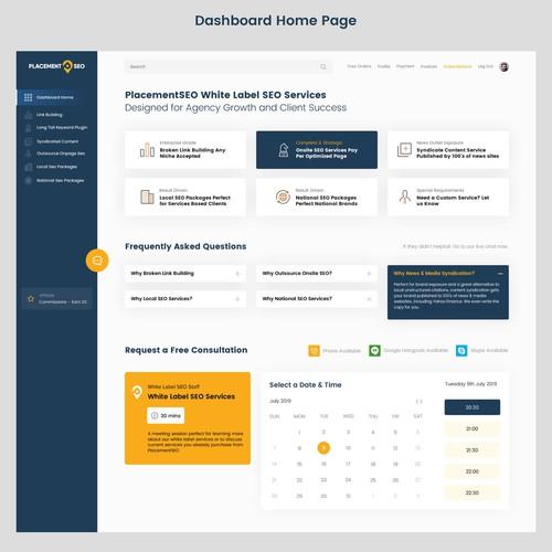 Sleek and Modern Dashboard Design for SEO Company